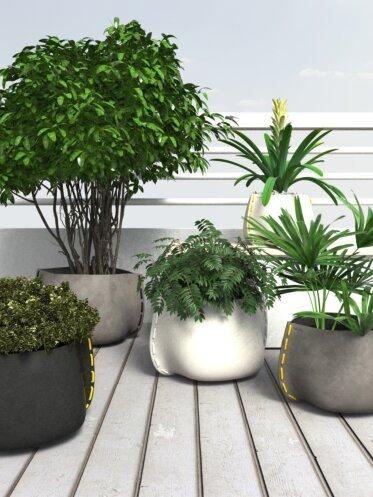 Outdoor Setting Plant Pot Collection - Concrete Planters