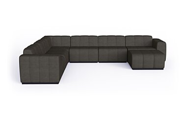 Connect Modular 7 U-Sofa Chaise Sectional Modular Sofa - Studio Image by Blinde Design