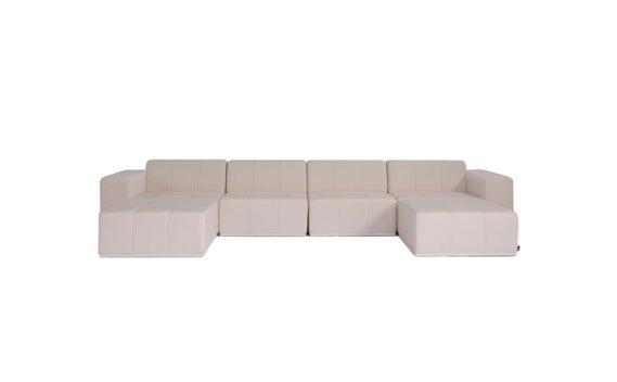 Connect Modular 6 U-Chaise Sectional Modular Sofa - Canvas by Blinde Design