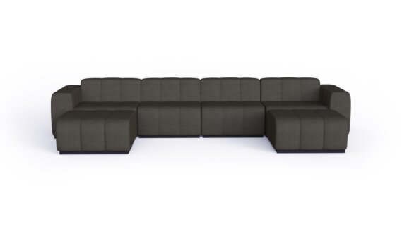 Connect Modular 6 U-Chaise Sectional Modular Sofa - Flanelle by Blinde Design