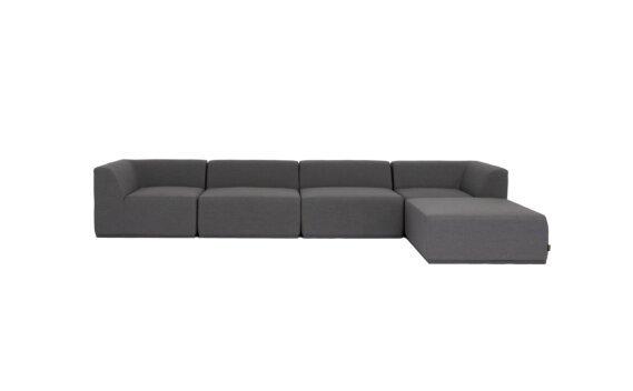 Relax Modular 5 Sofa Chaise Modular Sofa - Flanelle by Blinde Design
