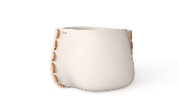 Stitch 100 Planter - Bone / Orange by Blinde Design