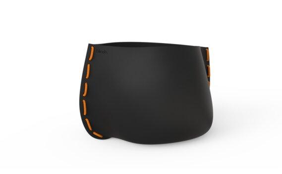 Stitch 100 Planter - Graphite / Orange by Blinde Design