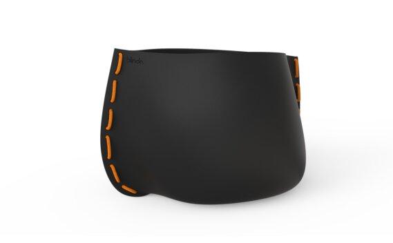 Stitch 125 Planter - Graphite / Orange by Blinde Design