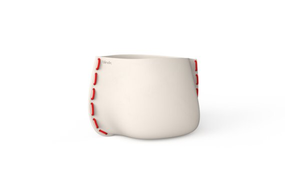 Stitch 50 Planter - Bone / Red by Blinde Design