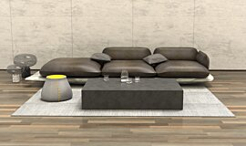Living room Blinde Design Coffee Table Idea