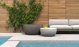 Poolside Blinde Design Coffee Table Idea