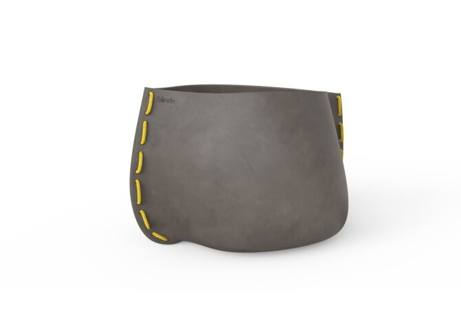 Stitch 100 Planter - Natural / Yellow by Blinde Design