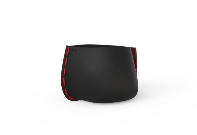 Stitch 50 Planter - Graphite / Red by Blinde Design