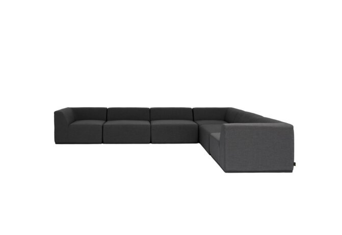 Relax Modular 6 L-Sectional Modular Sofa - Sooty by Blinde Design