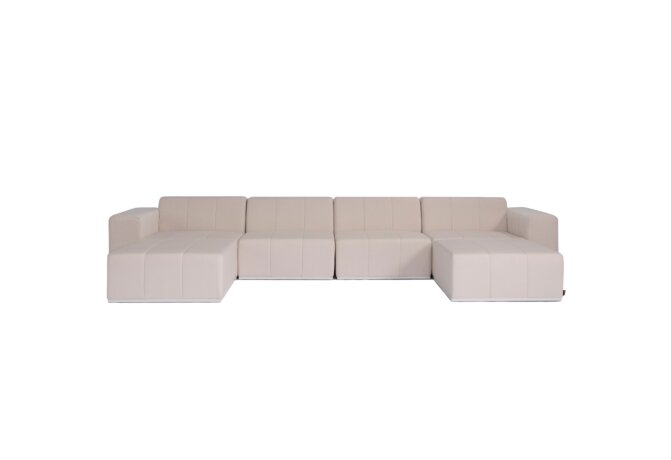 Connect Modular 6 U-Chaise Sectional Modular Sofa - Canvas by Blinde Design