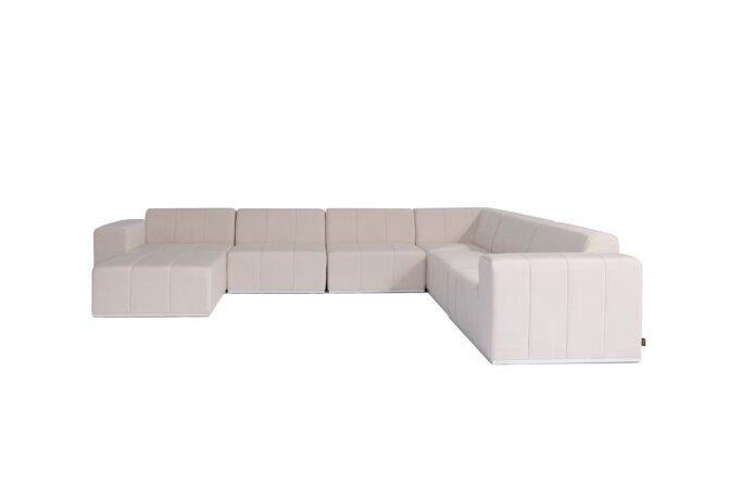Connect Modular 7 U-Sofa Chaise Sectional Modular Sofa - Canvas by Blinde Design