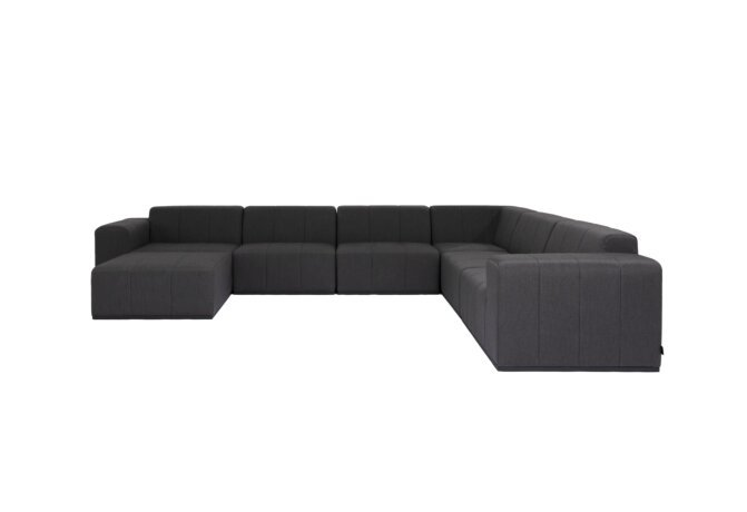 Connect Modular 7 U-Sofa Chaise Sectional Modular Sofa - Sooty by Blinde Design