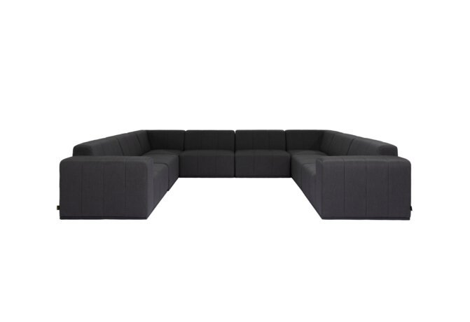 Connect Modular 8 U-Sofa Sectional Modular Sofa - Sooty by Blinde Design