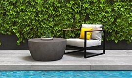 Poolside Blinde Design Coffee Table Idea