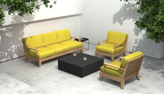 Outdoor setting - Bloc L4 Coffee Table by Blinde Design